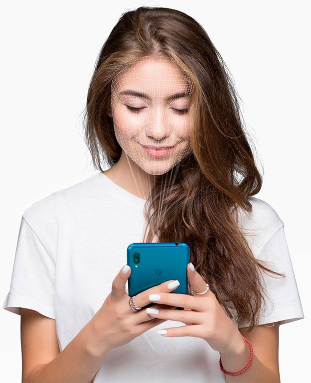 Huawei y6 2019 proteccion facial caracteristicas