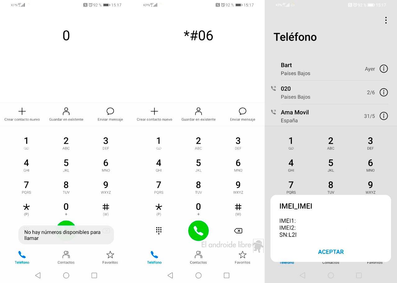 IMEI de los celulares Huawei Peru