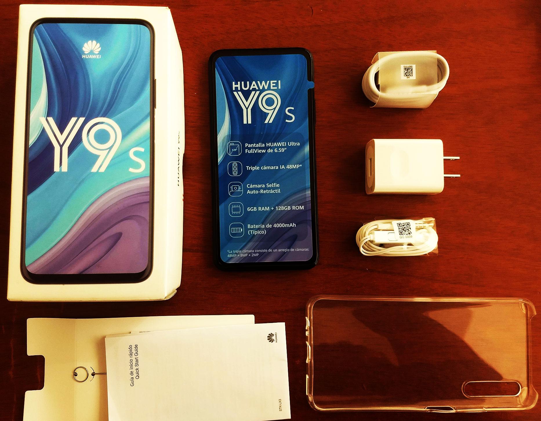 ¿Que incluye en la caja de Huawei Y9s?