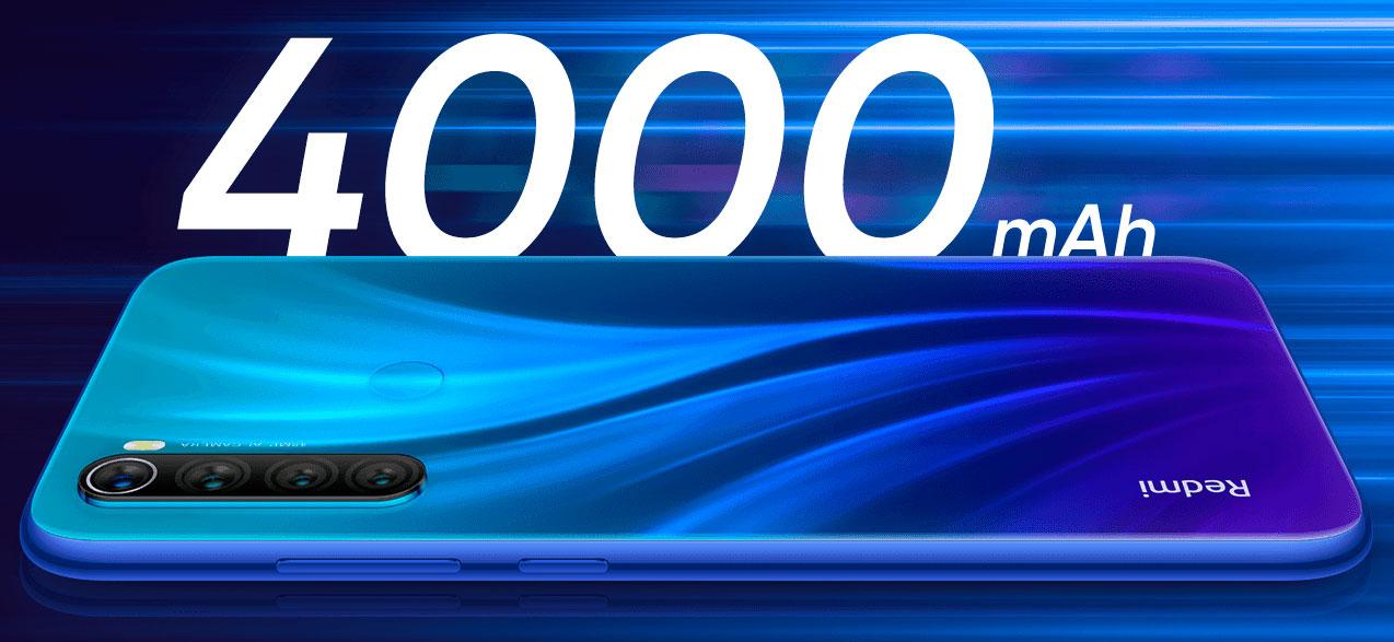 Redmi Note 8 Bateria 4000 mAh