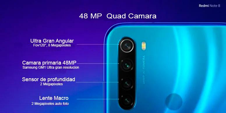 Redmi Note 8 Camara cuadruple caracteristicas