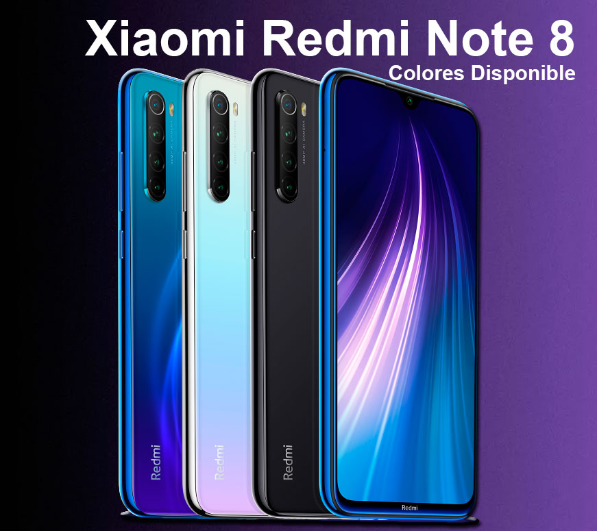 Redmi Note 8 Colores disponibles