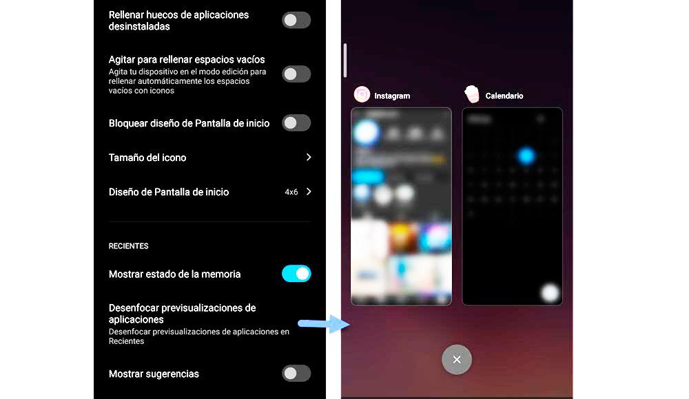 Redmi Note 9 y 9Pro Desenfoca apps