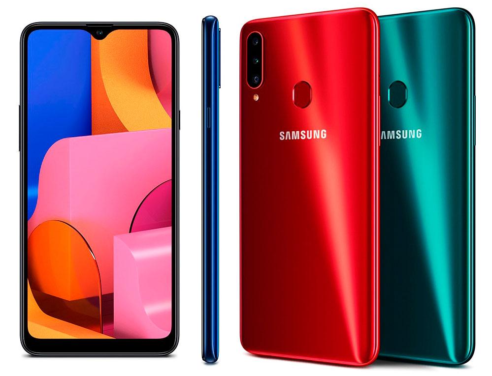 Samsung A20s cuerpo caracteristicas