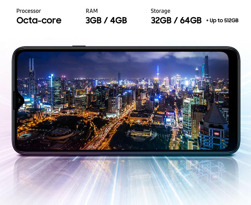 Samsung A20s procesador y almacenamiento