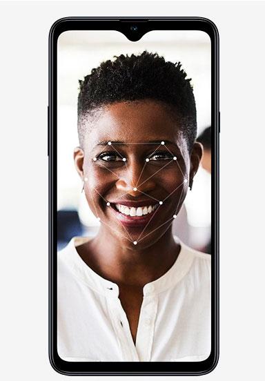Samsung A20s reconocimiento facial